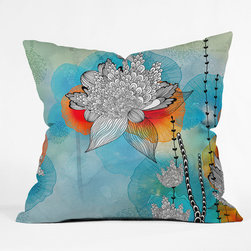 """DENY Designs - Iveta Abolina Polyester Coral Indoor/Outdoor Throw Pillow - Do you hear that noise? It's your outdoor area begging for a facelift and what better way to turn up the chic than with DENY Designs' Indoor/Outdoor Throw Pillows. Made from water and mildew proof woven polyester, our Indoor/Outdoor Throw Pillow is the perfect way to add some vibrance and character to your boring outdoor furniture while giving the rain a run for its money. Features: -Collection: Iveta Abolina. -Fabric: Water and mildew proof woven polyester. -Fill: Mildew resistant polyester fill. -Closure: Sealed. -Spot treatment with mild detergent. -Manufacturing: 6 color dye process, custom printed for every order. -Made in the USA. -Closure: Concealed zipper with bun insert. -Medium dimensions: 18"""" H x 18"""" W x 5"""" D. -Large dimensions: 20"""" H x 20"""" W x 6"""" D. -Product weight: 2 lbs."""