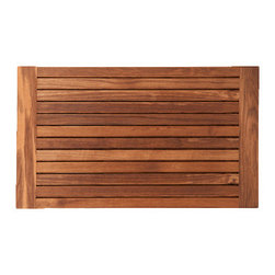 TEAKWORKS4U - Teakworks4u Teak Bath Mat With Side Edges, Plantation Teak - Teakworks4u Teak Bath Mat With Side Edges is ideal for indoor or outdoor use. It is naturally mold and mildew proof due to its high oil content and high silica content makes it incredibly slip resistant.