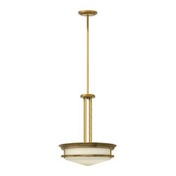 Hinkley Lighting - Hinkley Lighting 3305BR Hinkley Lighting 3305OZ Oil Rubbed Bronze 4 Light Indoor - Hinkley Lighting 3305 Hadley Large Pendant The Hadley is a retro-styled flush mount collection. The etched opal one piece glass shade features a slim
