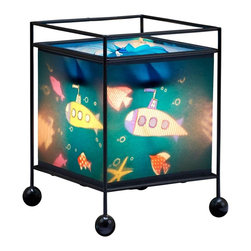 Natural Design House - MeMe Magic Revolving Lamp, Submarine Design - Children are fascinated by these lamps! Wonderful magic lamp, rotates gently when switched on using the heat from the bulb and projects a soothing image onto the ceiling and walls.