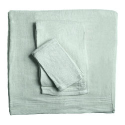 SHOO-FOO - Bamboo 3-Piece Spa Towel Set, Sage Green, Set of 2 - This bamboo spa towels set is made of 100% organic bamboo fibers made at a quality rate of 600g/sq meter.' Any bamboo towel beginner will find this popular set most useful for introducing eco-friendly linens into a household bathroom.' Once the softness, absorbency and continual freshness of these bamboo towels is experienced, you're sure to come back for more! It makes the perfect set to leave in a spare bathroom for guests who travel without their own linens!