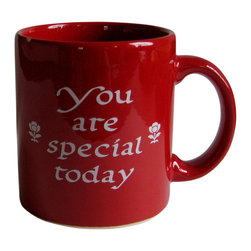 "Waechtersbach - You Are Special Today Mug - Your family will love the mug addition to the ""You Are Special Today"" tradition. Beautiful glazed red mug is a great way to show someone you care."