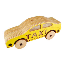 Chase Wooden Taxicab - Yo, taxi how about a ride all around the house! With this wooden car taxi cab your little one will rack up cab fares and miles by the bunches. Every cabbie is only as good as the car they drive so kiddos can be confident this car will hold up until it passed down for many generations to come.
