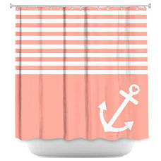 Beach Style Shower Curtains by DiaNoche Designs