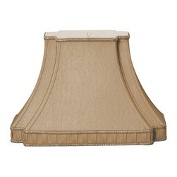 """""""Royal Designs, Inc"""" - Rectangle Bell with Bottom Gallery Inverted Corner Designer Lampshade - """"This Rectangle Bell with Bottom Gallery Inverted Corner Designer Lampshade is a part of Royal Designs, Inc. Timeless Designer Shade Collection and is perfect for anyone who is looking for an elegant yet detailed lampshade. Royal Designs has been in the lampshade business since 1993 with multiple shade lines that exemplify handcrafted quality and value."""