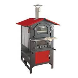 Wood Burning Ovens - The Rosso is the colored version of the GUSTO, Fontana's best selling unit, the original portable wood-fired oven. Many can be found in Italy to still be in use after 30 years of service. The Rosso is a heavy duty unit that is made of a combination of cast iron, steel, and stainless steel for years of dependable use. They are extremely practical and easy to use – equipped with an interior light and a convection fan.