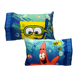 Store51 LLC - Spongebob Pillowcase Set Sea Adventure Bed Accessories - FEATURES: