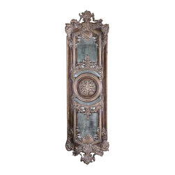 Uttermost Domenica Antique Mirror - Lightly distressed chestnut brown with a heavy gray glaze and antiqued mirrors. This decorative wall decor features heavily antiqued mirrors accented by ornate framing finished in lightly distressed chestnut brown with a heavy gray glaze. May be hung horizontal or vertical.