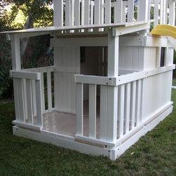 Swing Set Additions - Full Bottom Enclosure w/ Open Porch - Full Bottom Enclosure with open porch
