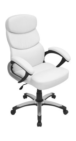 "Lumisource - Doctorate Office Chair, White - 26.5"" L x 27"" W x 42.5 - 46"" H"
