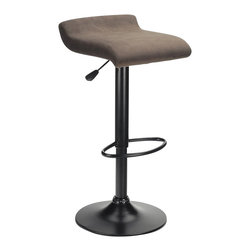 Winsome - Winsome Marni Air Lift Stool in Black Finish - Winsome - Bar Stools - 93189 - Comfortable and attractive the design of the Marni Adjustable Air Lift Bar Stool makes it ideal for contemporary homes. Enjoy the convenience of a range of adjustment. Complement the modern style of your home bar kitchen island or pub table with these stylish backless bar stools. These chairs will add a touch of sophistication with a very subtle retro vibe.