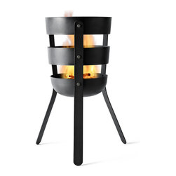 MENU - Fire Basket - Bask in the warmth and glow of a roaring fire no matter where you are. This nifty fireplace is mobile and ready to go! Wherever you set it up — the beach, mountains or friends' backyard — it's sure to become the main attraction.