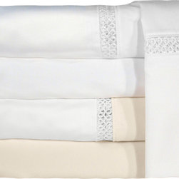 Veratex - Grand Luxe Duetta Egyptian Cotton Sateen Deep Pocket 1200 Thread Count Sheet Set - Enjoy the ultimate luxury of this 1200-thread count sheet set from Grand Luxe. Made from 100 percent pure Egyptian cotton,these sheets and pillow cases feature a sateen weave to have you sleeping like royalty. This set is available in ivory or white.