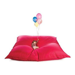 Zet - Sit On It XXL - This state of the art bean bag chair is multifunctional. Use it as an extra guest bed, an alternative sofa, a children's playground, a relaxing haven… This XXL - 3m x 3m - bean bag, is huge! Great for youth clubs, schools, or events.