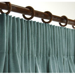 Curtains & Draperies of Indianapolis- Custom Styles at Affordable Prices - This is a picture of our pencil pleated curtains. This style is great for a modern, contemporary or transitional style home.  We can create any style and pleat that you want.