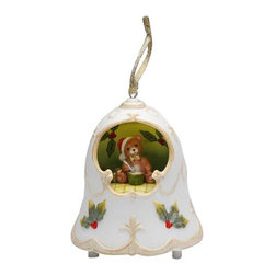 ATD - 3 7/8 Inch Musical Christmas Bell with Teddy Bear Center Ornament - This gorgeous 3 7/8 Inch Musical Christmas Bell with Teddy Bear Center Ornament has the finest details and highest quality you will find anywhere! 3 7/8 Inch Musical Christmas Bell with Teddy Bear Center Ornament is truly remarkable.