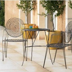 """Provence Garden Dining Set - CHAIR 21""""Lx 18""""W x 37""""H, TABLE 24.5""""D x 30""""H"""