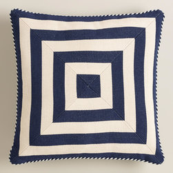 Navy Mitered Square Throw Pillow - This navy pillow is awesome. I love those mitered corners, and the price cannot be beat.