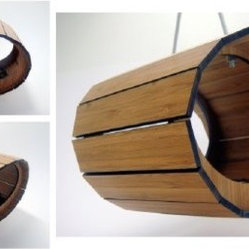 Modern Bamboo Bird Feeder from Oryx and Crake Design