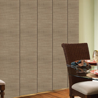 Comfortex - Comfortex Envision Panel Track Blinds: Shantung - Comfortex Panel Tracks offer a modern alternative to standard window treatments that's perfect for patio doors, wide windows or as a room divider.  This collection is made of light filtering fabrics.