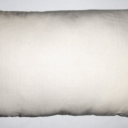 organic toddler pillows - Organic toddler pillow: certified organic cotton ticking fabric with kapok filling. Six inch zipper to add or remove filling. Machine washable. Seven size options available. Made in U.S.