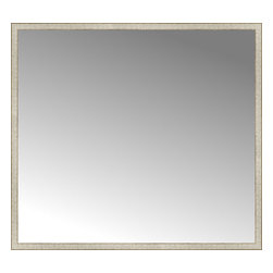 """Posters 2 Prints, LLC - 71"""" x 64"""" Libretto Antique Silver Custom Framed Mirror - 71"""" x 64"""" Custom Framed Mirror made by Posters 2 Prints. Standard glass with unrivaled selection of crafted mirror frames.  Protected with category II safety backing to keep glass fragments together should the mirror be accidentally broken.  Safe arrival guaranteed.  Made in the United States of America"""