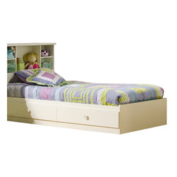 South Shore - South Shore Sand Castle Twin Mates Storage Bed Frame Only in Pure White Finish - South Shore - Beds - 3660213