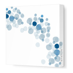 "Avalisa - Imagination - Float Stretched Wall Art, 28"" x 28"", Blue - Show off your bubbly personality with whimsy dots that happily dance across the canvas. With a variety of colors to choose from, this imaginative wall art has the palette to match your decor, spot on."