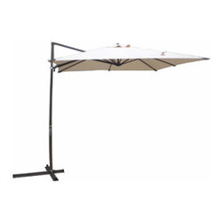 Mainstays Patio Umbrella - Shade your lounge area with a corner-mount umbrella.