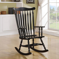 Coaster - Black Traditional Rocker - Rocker with a black finish.