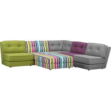 Eclectic Sectional Sofas by CB2