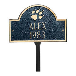 Whitehall - Lawn Pet Plaque - 5020BG - Shop for General Pet Supplies from Hayneedle.com! Made of Recycled Cast Aluminum and painted with weather resistant finish this Personalized Pet marker will create a memorial for a favorite pet OR dress up a dog house. Custom made one at a time for a personalized item that will last a lifetime. About Whitehall Renowned as the world's largest manufacturer of weathervanes Whitehall Products is also recognized for its extensive line of personalized home address plaques mailboxes and garden accents such as hose holders birdbaths birdfeeders and sundials. Whitehall's home accent collection includes unique indoor/outdoor clocks thermometers and personalized doormats. Behind the legend of Whitehall artistry lies the tale of a unique craft inspired by the majestic shores and woodlands of western Michigan. It was one master wood-carver's desire to reproduce and preserve his hand-carved wood sculpture in metal depicting the grace and essence of America's natural beauty. Over 65 years later Whitehall Products still offers you the same mastery in detail with each originally designed carved and hand-cast product.