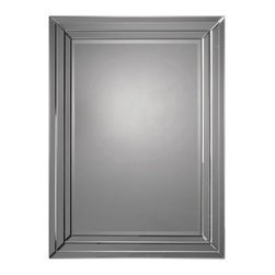 Ren-Wil - Ren-Wil MT920 Portrait Mirror in All Glass - Beveled mirror frame. Beveled center mirror.