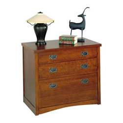 "kathy ireland Home by Martin Furniture - California Bungalow Three-Drawer Fil - The California Bungalow office collection features a beautiful hand rubbed mission finish that beautifies and protects your furniture investment. These pieces turn your office into an elegant space. Coordinate this piece with others from the California Bungalow collection to create a complete look. Features: -Hand rubbed Mission Oak and Lacquer finish. -Made from solid Oak and veneers. -Holds letter/legal files. . -Included adaptor kit for legal files. -Two media storage drawers . -Ships fully assembled (please check doorway widths to ensure delivery of your desk) . -10 year manufacturer warranty . -Overall dimensions: 29"" H x 33.75"" W x 19.5"" D. -TEN YEAR LIMITED WARRANTY: -All Martin Furniture products carry a TEN YEAR limited warranty to be free of manufacturing defects in workmanship. . -The Martin Furniture warranty is only valid when you purchase from an authorized retailer of Martin Furniture. . -Please contact us for more detail on this TEN YEAR LIMITED WARRANTY! ."