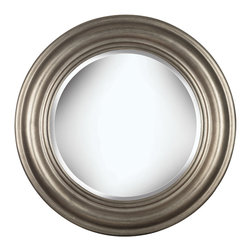 Kenroy - Kenroy 60027 Nob Hill Wall Mirror - Surprisingly simple, but always in style, Nob Hill's Antique Silver finish will be mistaken for a family heirloom.