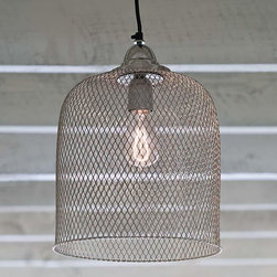 Regina Andrew Cage Pendant - Vintage modern style is here to stay, and industrial pendants with a French flea market feel like this one are a perfect way to add the look at home. Strong enough to stand on its own, this would also be stunning paired with a partner over a kitchen island.