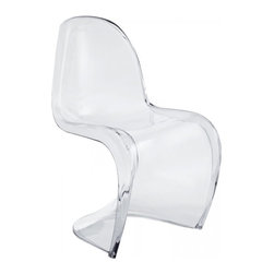 Modway Imports - Modway EEI-1339-CLR Slither Dining Acrylic Side Chair In Clear - Modway EEI-1339-CLR Slither Dining Acrylic Side Chair In Clear