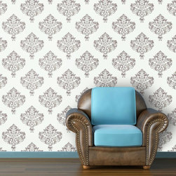 "Moroccan Antique Wallpaper, Hint of Mint, 25"" X 4.5' - ""Swag Paper - Empowering the Do-It-Yourselfer:"