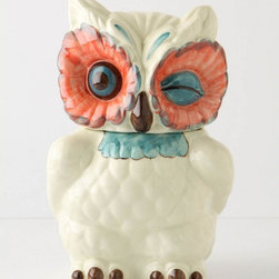 Winking Wisecracker Jar - Doesn't this little ceramic owl jar just make you smile? He screams fall and deserves a spot in every home — even if just for the season. I love the colors and the quirky wink. Fall decor doesn't get much better than this!