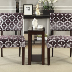 None - Alexis 'Crox' 3-piece Accent Chairs and Side Table Set - Enhance any living space in your home with your choice of colorful accent chairs. This set features a simple design that compliments an array of home decors,sure to make a great addition to your home decor.