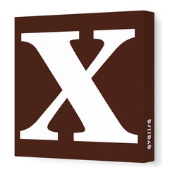 "Avalisa - Letter - Lower Case 'x' Stretched Wall Art, 12"" x 12"", Brown - Spell it out loud. These lowercase letters on stretched canvas would look wonderful in a nursery touting your little one's name, but don't stop there; they could work most anywhere in the home you'd like to add some playful text to the walls. Mix and match colors for a truly fun feel or stick to one color for a more uniform look."