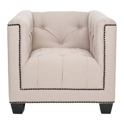 Safavieh Bentley Club Chair - I can imagine this chair in a living room, office or even a vanity area. Add a patterned throw pillow to really make it pop.