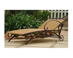 International Caravan - Valencia Outdoor Wicker Multi Position Chaise - Beautiful wicker outdoor woven design. Premium outdoor weatherproof protection. UV Light Fading Protection. Light Pecan Wicker Finish. Brown Steel Frame for Maximum support. Multiple position for various comfort zones. Easy to assemble. 26 in. W x 73 in. D x 27 in. H (55 lbs.)