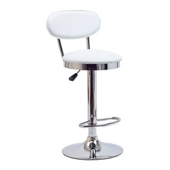 Retro Bar Stool in White