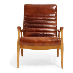 DwellStudio Hans Leather Chair - This Scandinavian-style chair is gorgeous, and that leather is to-die-for!