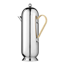 Domus Coffee Pot Large Wicker Handle - This is gorgeous! It's stainless steel, has a French press inside and has that fabulous wicker handle. It's so retro but so contemporary.