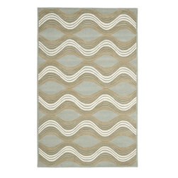 Safavieh - Contemporary Wyndham 5'x8' Rectangle Blue - Multi Color Area Rug - The Wyndham area rug Collection offers an affordable assortment of Contemporary stylings. Wyndham features a blend of natural Blue - Multi Color color. Hand Tufted of Wool the Wyndham Collection is an intriguing compliment to any decor.