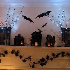 Traditional  Halloween Mantel