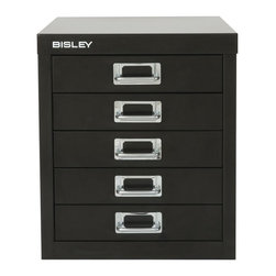 Empire Imports - Bisley Steel 5-Drawer Desktop Multidrawer Storage Cabinet - MD5-BL - Shop for File and Storage Cabinets from Hayneedle.com! The aptly-named Bisley Steel 5-Drawer Desktop Multidrawer Storage Cabinet features five deep drawers to organize paper forms art supplies crafts scrapbooking tools and other items. The drawers pull out fully offering easy access to drawer contents. The durable steel cabinet is sized to fit on a desk or countertop. Accented with attractive chrome pull handles and built-in label holders this compact storage cabinet looks great at the office workshop garage or home. Enhance with Bisley Multi Drawer Inserts to neatly store pens paper clips thumb tacks and other small items. This desk cabinet is finished in long lasting powder coated paint that won't chip or rust.