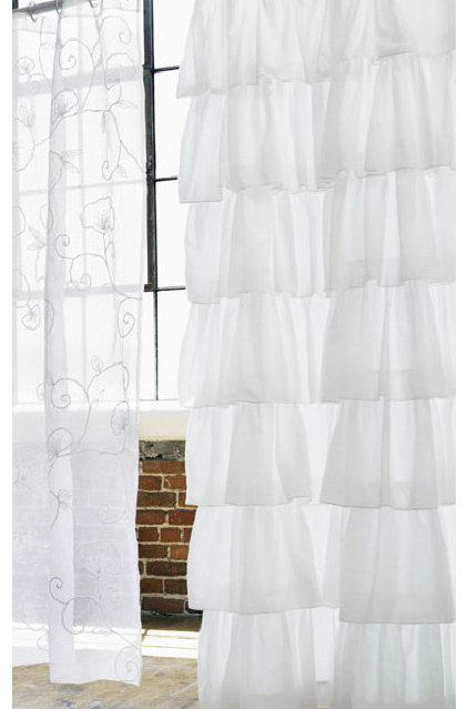 Traditional Shower Curtains by Rian Rae